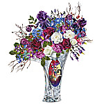 Disney Tim Burton's The Nightmare Before Christmas Undying Love Illuminated Artificial Floral Table Centerpiece