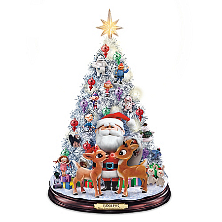 Rudolph's Holly Jolly Tabletop Christmas Tree