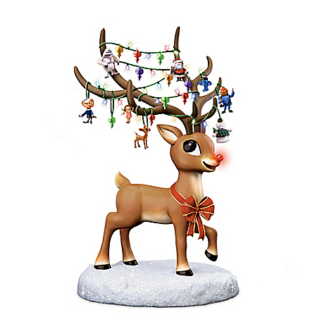 Rudolph The Red-Nose Reindeer Sculpture