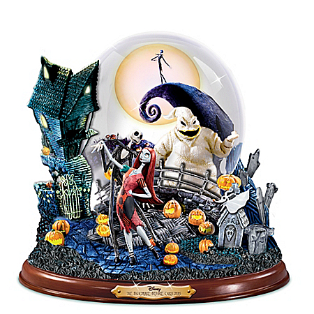 Disney Tim Burton's The Nightmare Before Christmas Illuminated Musical Snowglobe