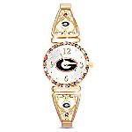 My University Of Georgia Bulldogs Women's Stretch Watch