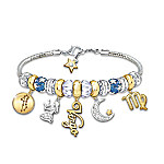 Zodiac Ultimate Charm Sterling Silver-Plated Bracelet