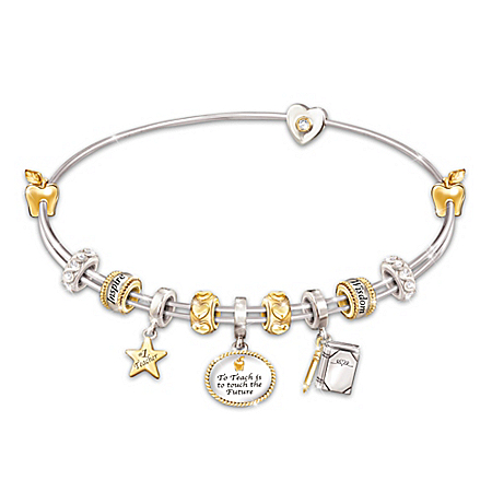 Passion For Teaching Charm 18K Gold-Plated Bracelet