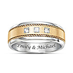 Timeless Love Personalized Men's Two Tone Diamond Ring