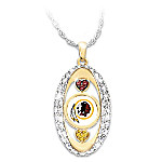 For The Love Of The Game Washington Redskins Pendant Necklace