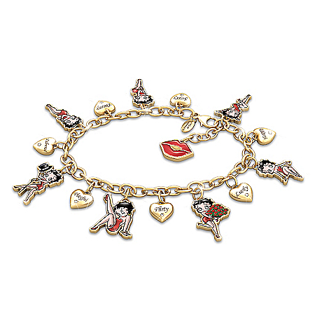Charming Appeal Betty Boop Charm Bracelet