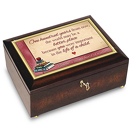 Teachers Are The Heart Of Learning Music Box With Poem Card