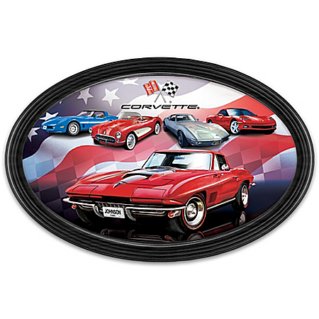 American Dream Car: Chevrolet Corvette Personalized Collector Plate