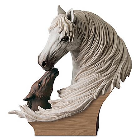 A Tender Bond Lipizzan Masterpiece Sculpture