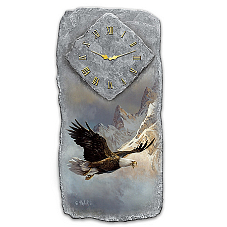 Ted Blaylock Breaking The Clouds Eagle Wall Clock