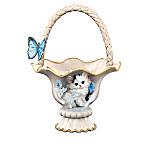 Meta Pluckebaum Blue-Eyed Beauty Cat Table Basket Centerpiece