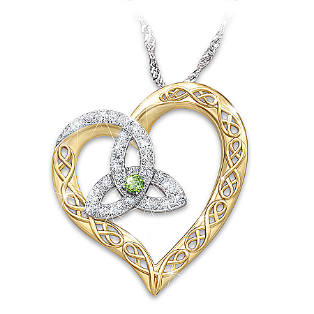 Irish At Heart Diamonesk Pendant Necklace