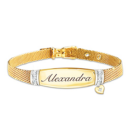 Love For My Daughter Personalized Diamond Bracelet – Personalized Jewelry