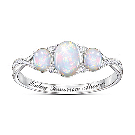 Light Of Our Love Australian Opal Ring