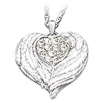 Wings Of Love Sterling Silver Locket Pendant Necklace