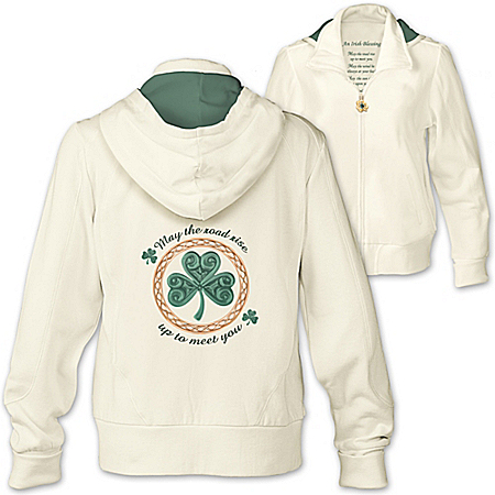 An Irish Blessing Women's Clover Hoodie