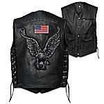 Open Road Men's Leather Motorcycle Vest