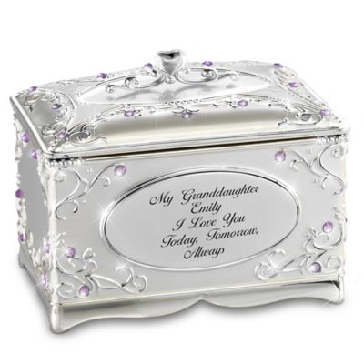 Bradford Exchange My Granddaughter, I Love You Personalized Silver-Plated
