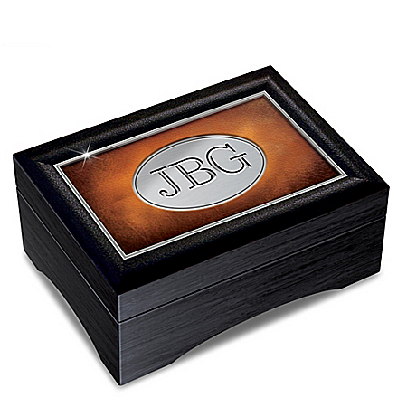 Son's Personalized Leather-Textured Keepsake Box
