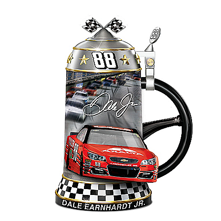 Dale Earnhardt Jr. Legendary Career NASCAR Sculptural Heirloom Porcelain Stein