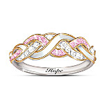 Strength Of Hope Breast Cancer Awareness Women's Ring