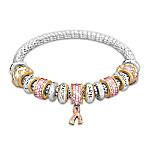 Message Of Hope Breast Cancer Awareness Mesh Bracelet