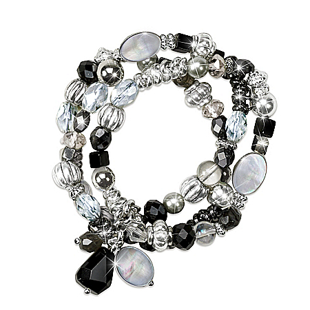 Downtown Stretch Women's Bracelet With Mother Of Pearl