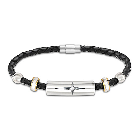 Protection And Strength For My Daughter Diamond Leather Bracelet – Graduation Gift Ideas