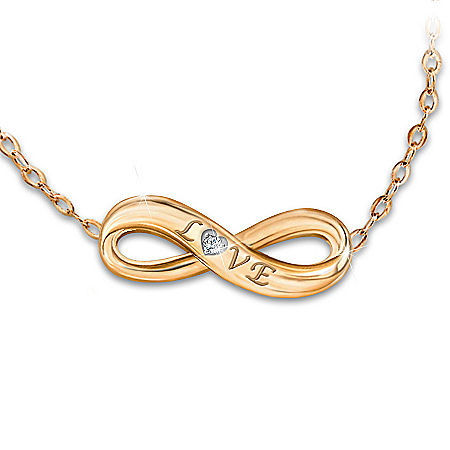 Precious Love 24K Gold Ion-Plated Diamond Daughter Necklace