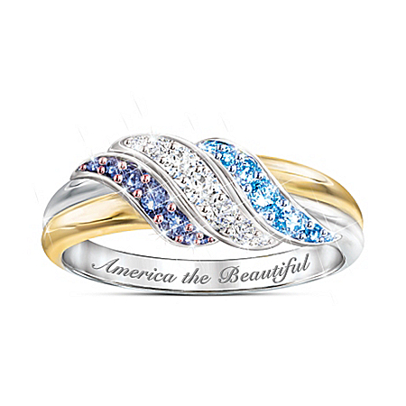 Star Spangled Sparkle 18K Gold-Plated Ring