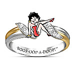Betty Boop 18K Gold-Plated Ring