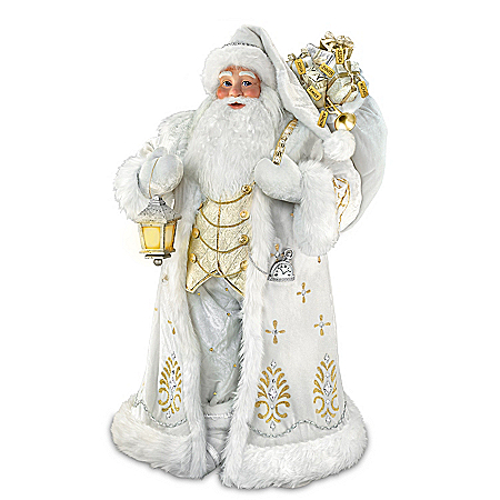 Winter Elegance Personalized Masterpiece Santa Sculpture