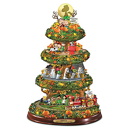 PEANUTS Great Pumpkin Halloween Illuminated Tabletop Tree