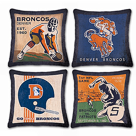 Denver Broncos Vintage Pillow Set