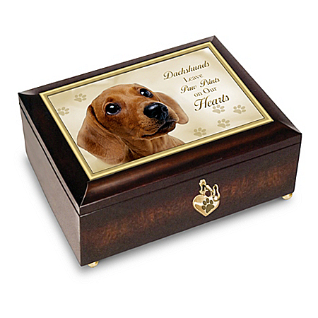 Dachshunds Leave Paw Prints On Our Hearts - Music Box