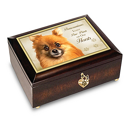 Pomeranians Leave Paw Prints On Our Hearts - Music Box