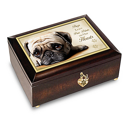 Pugs Leave Paw Prints On Our Hearts - Music Box