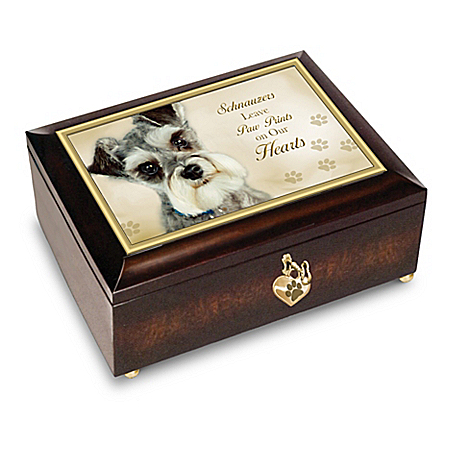 Schnauzers Leave Paw Prints On Our Hearts - Music Box