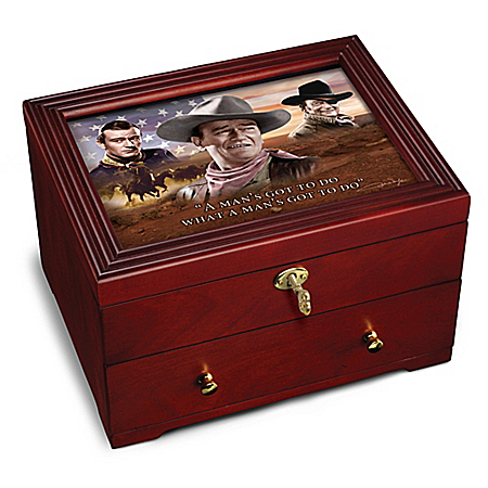 John Wayne: Legend Wooden Strongbox