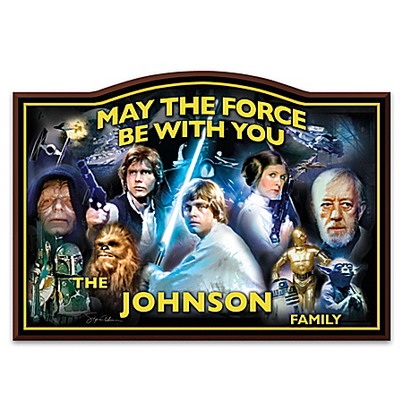 STAR WARS May The Force Be With You Personalized Welcome Sign