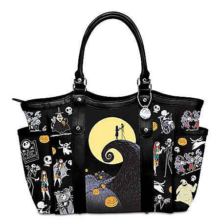 Disney Tim Burton's The Nightmare Before Christmas Polyester Tote Bag: 18″ Wide