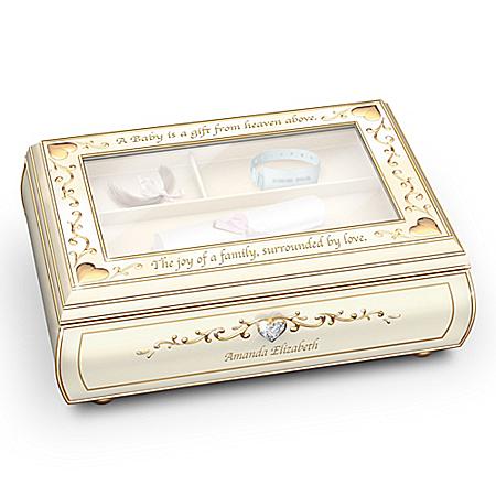 Baby's Treasured Memory Personalized Music Box
