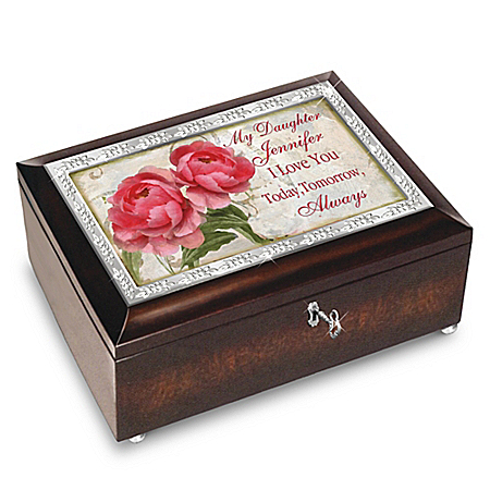 Personalized Music Box for Daughters with Original Poem Card: Bradford Exchange