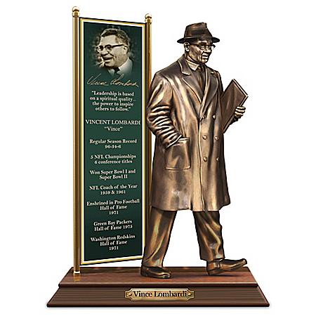 Vince Lombardi Cold-Cast Bronze Tribute Sculpture