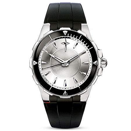Protection And Strength For My Son Black Sapphire Men's Watch
