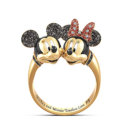 Disney Timeless Love Mickey Mouse And Minnie Mouse Ring