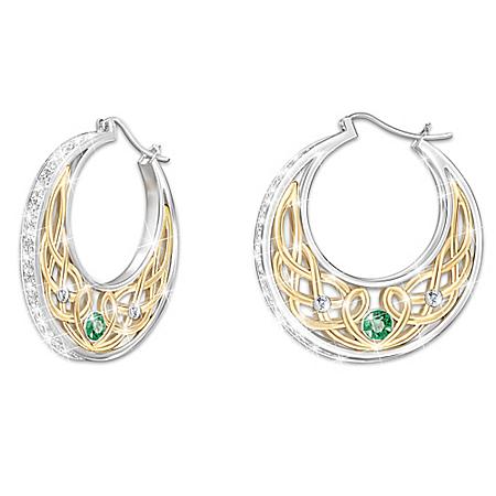 Love, Loyalty and Friendship Diamonesk Irish Earrings