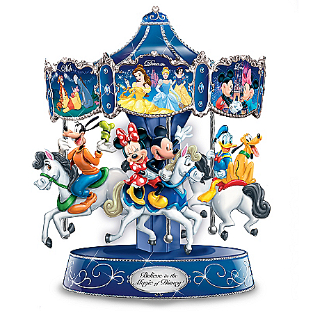 Disney's Believe In The Magic Hand-Painted Musical Carousel