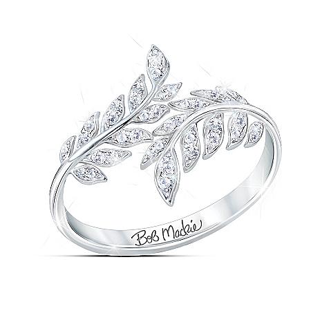 Bob Mackie Glittering Goddess Women's Diamonesk Ring