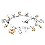 Sew Happy Sterling Silver Charm Bracelet